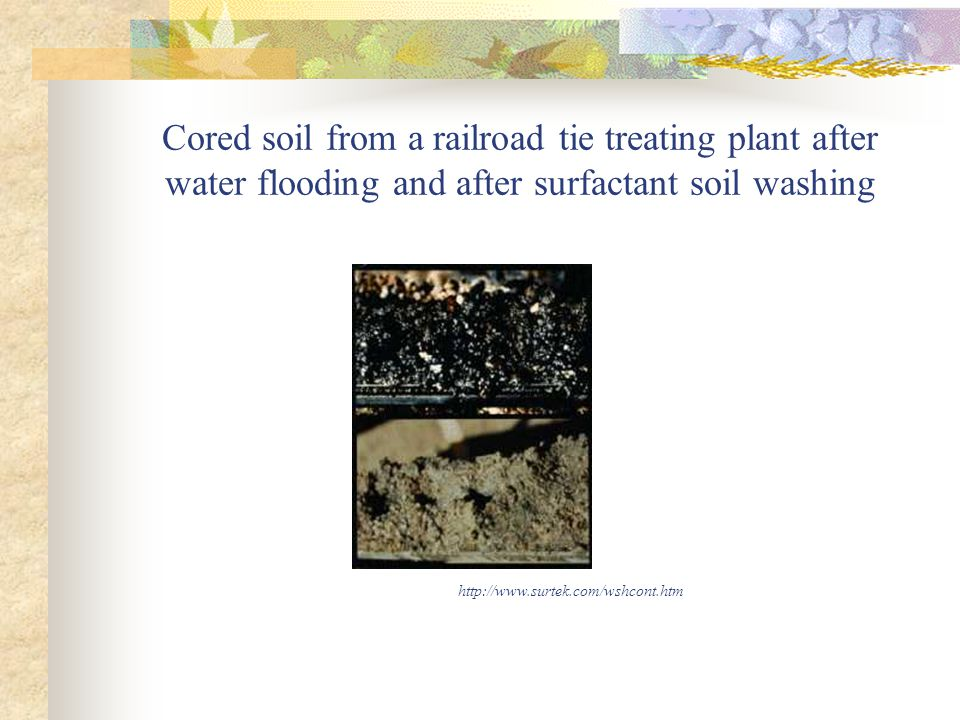 Limitations Soil washing does not clean the soil, it separates the contaminated fraction from the clean fraction, hence minimizing the amount of soil need to be cleaned.