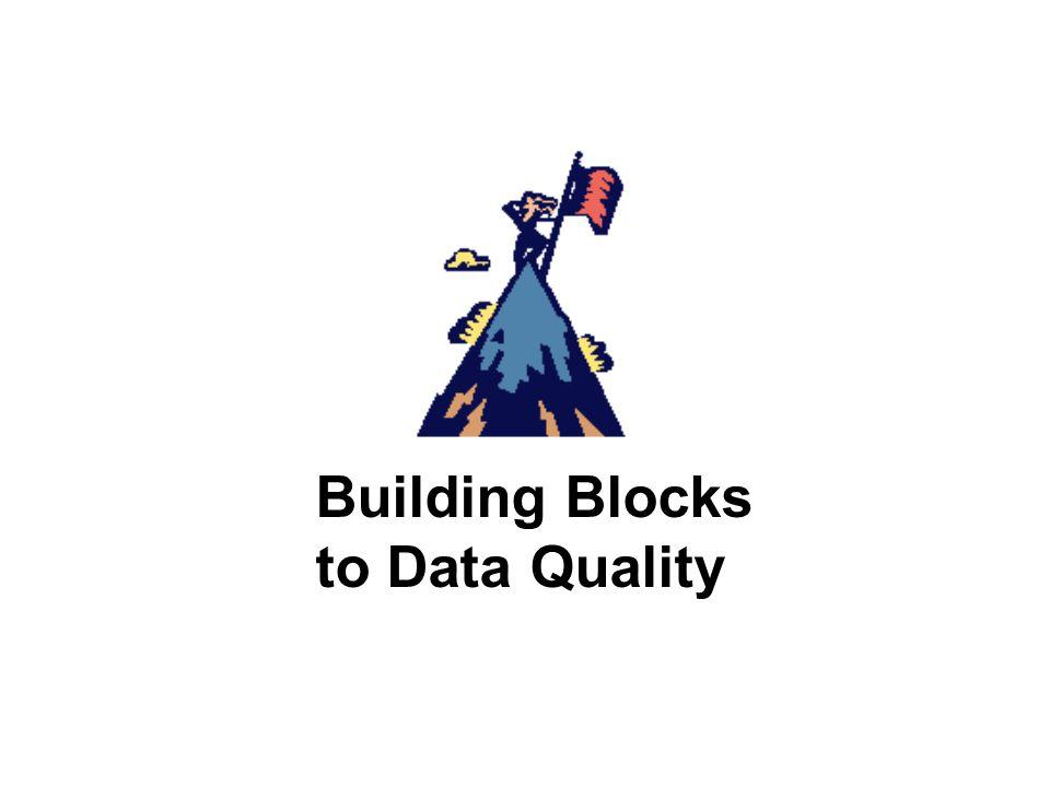 Building Blocks to Data Quality