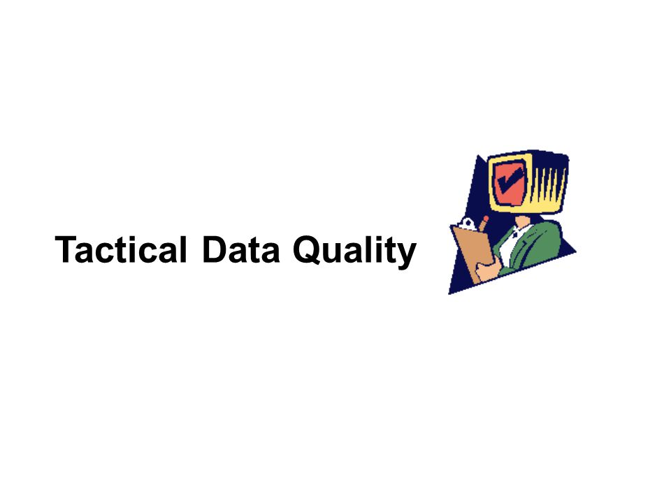 Tactical Data Quality
