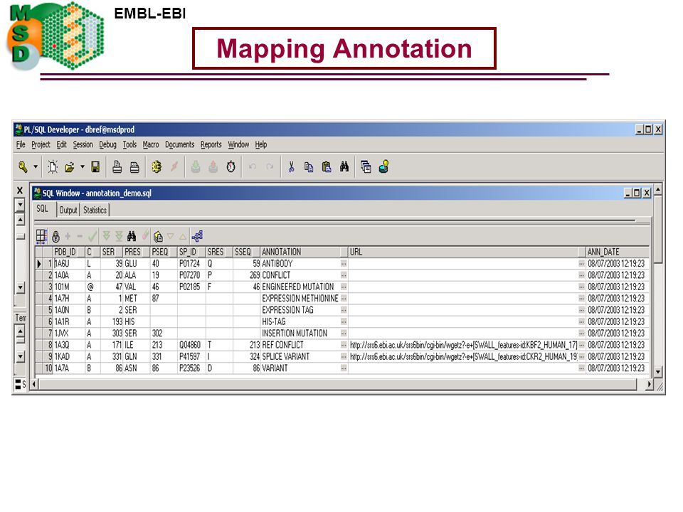 EMBL-EBI Mapping Annotation