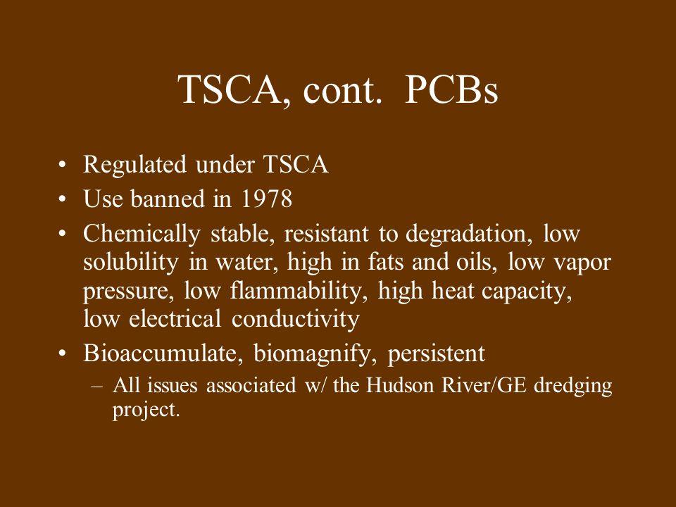 TSCA, cont.