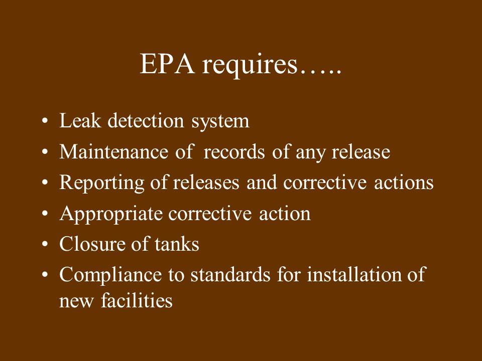 EPA requires…..