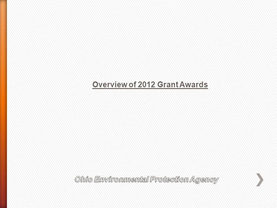 Overview of 2012 Grant Awards