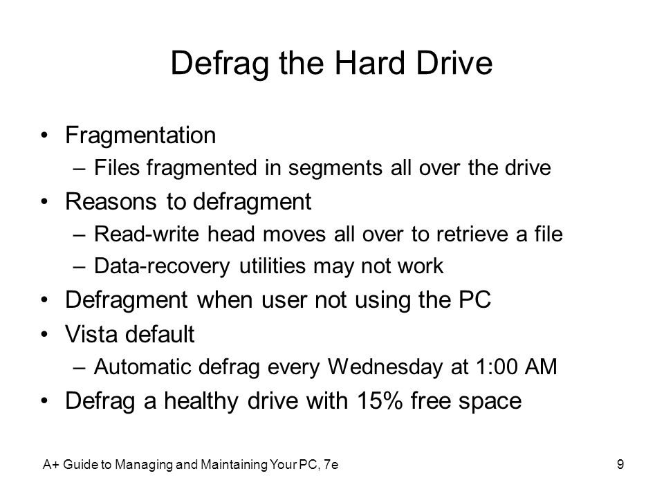 A+ Guide to Managing and Maintaining Your PC, 7e60 Commands To Manage Files and Folders (cont'd.) MD [drive:]path –Creates a subdirectory under a directory CD [drive:]path or CD..