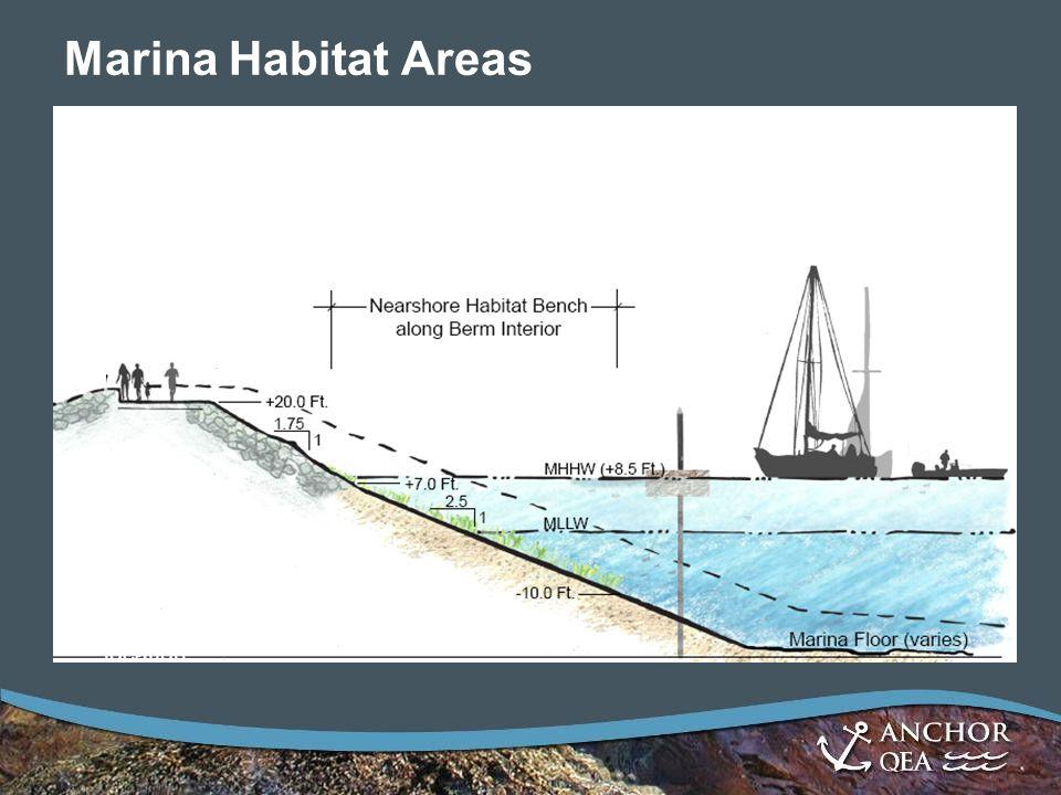 Marina Habitat Areas Notes: *Slopes will vary depending on location.