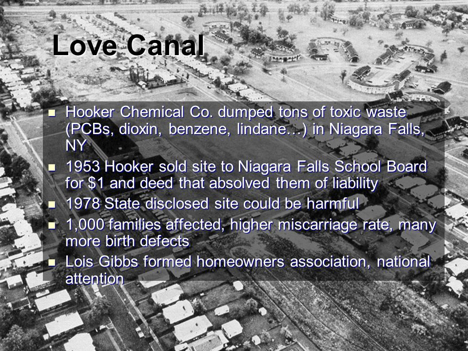 Love Canal Hooker Chemical Co.