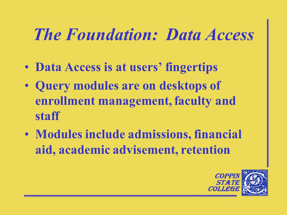 Coppin State College Data Clean Up: A Current Example
