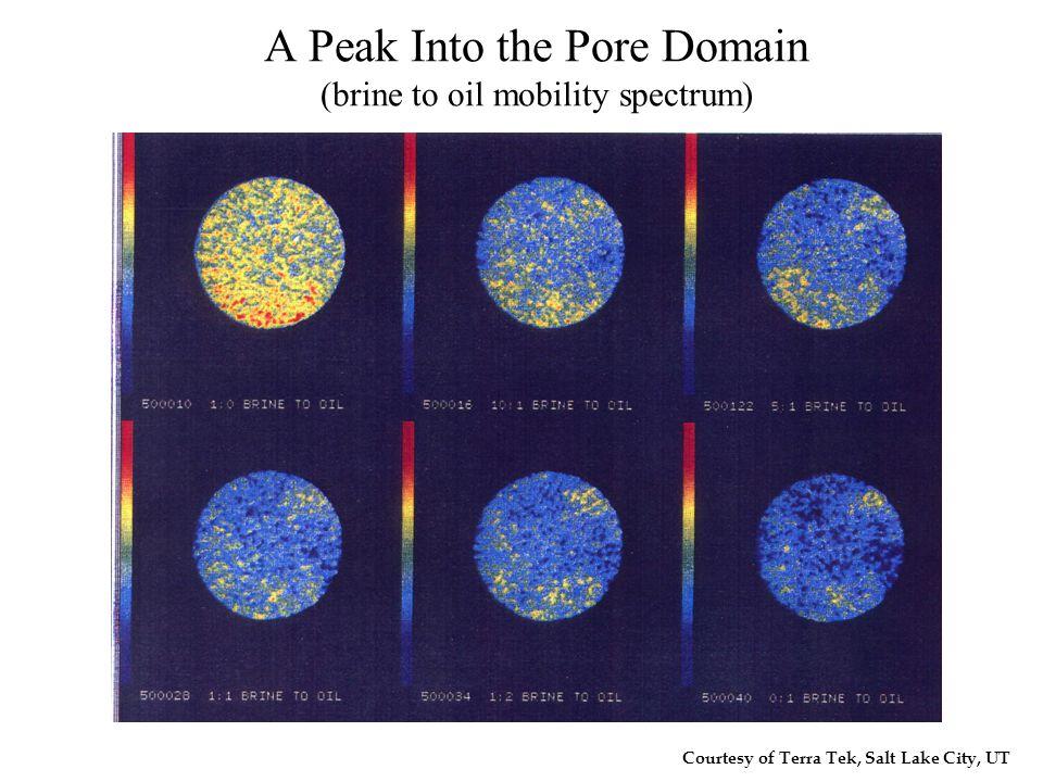 Courtesy of Terra Tek, Salt Lake City, UT A Peak Into the Pore Domain (brine to oil mobility spectrum)