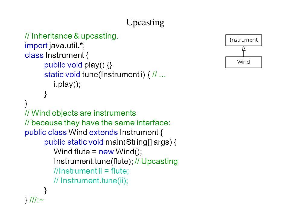 Upcasting // Inheritance & upcasting.