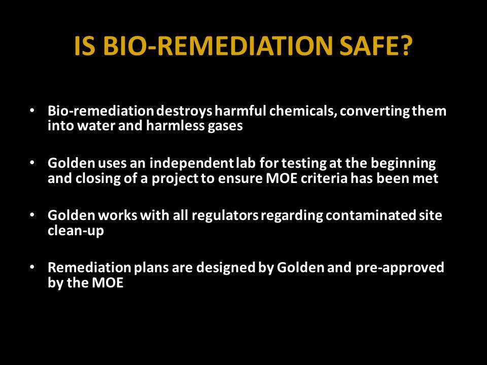 IS BIO-REMEDIATION SAFE.