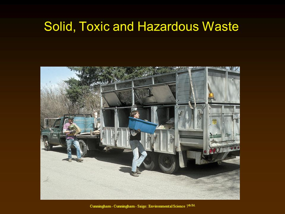 Cunningham - Cunningham - Saigo: Environmental Science 7 th Ed. Solid, Toxic and Hazardous Waste