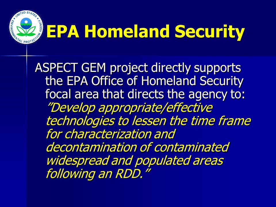 ASPECT GEM Project www.epaosc.net/aspectgem EPA NDTRERTERTORIANHSRC Regions 5 & 6 ASPECT Pilots Univ.
