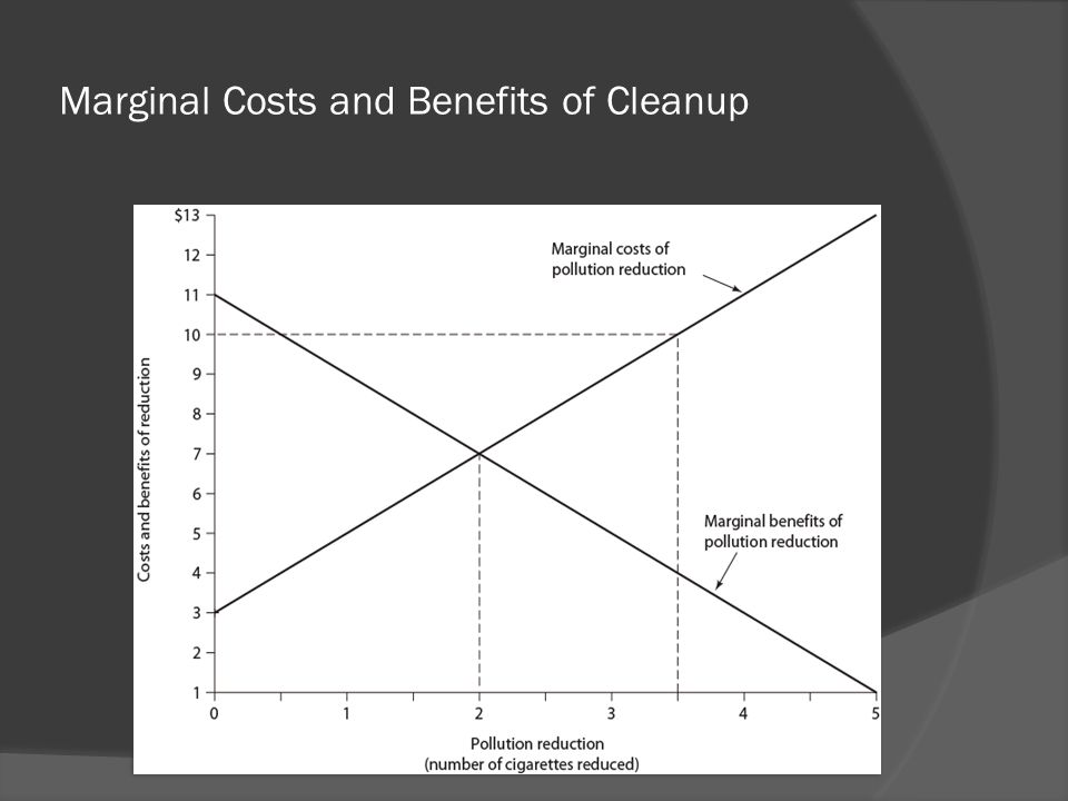 Marginal Costs and Benefits of Cleanup
