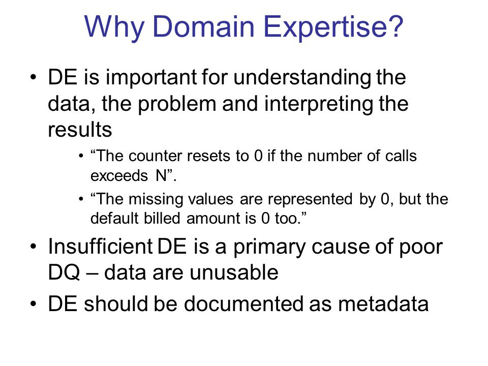 Why Domain Expertise.