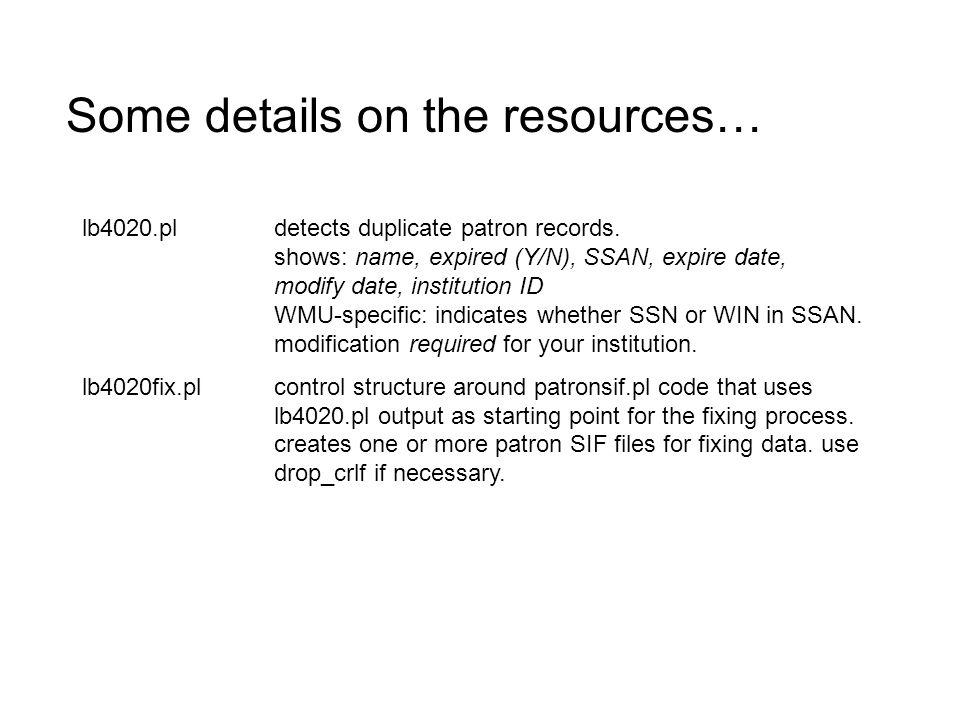 lb4020.pldetects duplicate patron records.