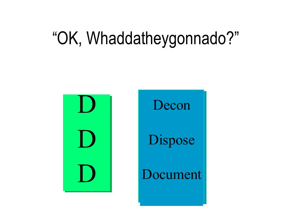 OK, Whaddatheygonnado Decon Dispose Document DDDDDD