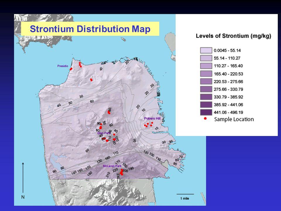 Strontium Distribution Map