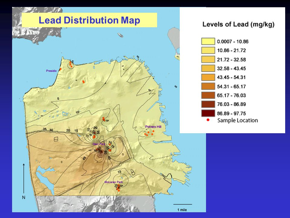 Lead Distribution Map