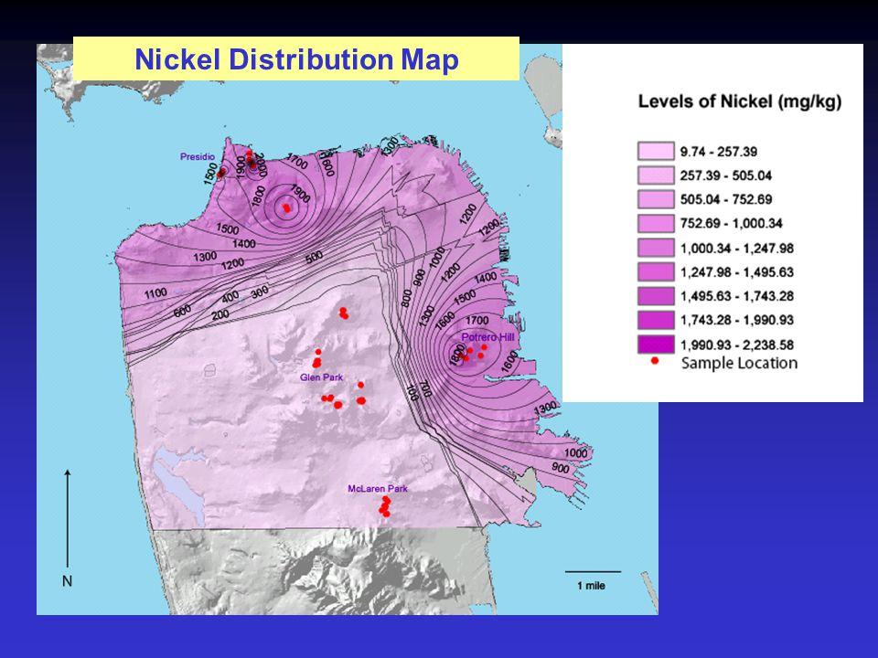 Nickel Distribution Map