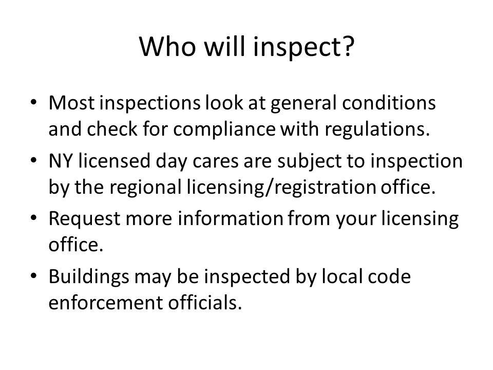 Who will inspect.