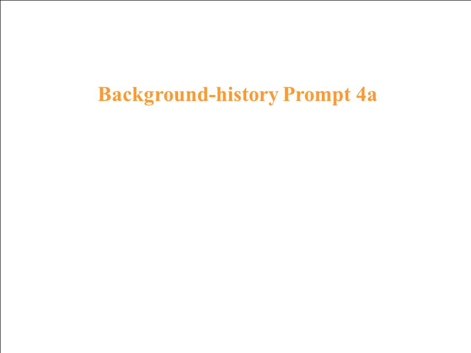 Background history Response 3a