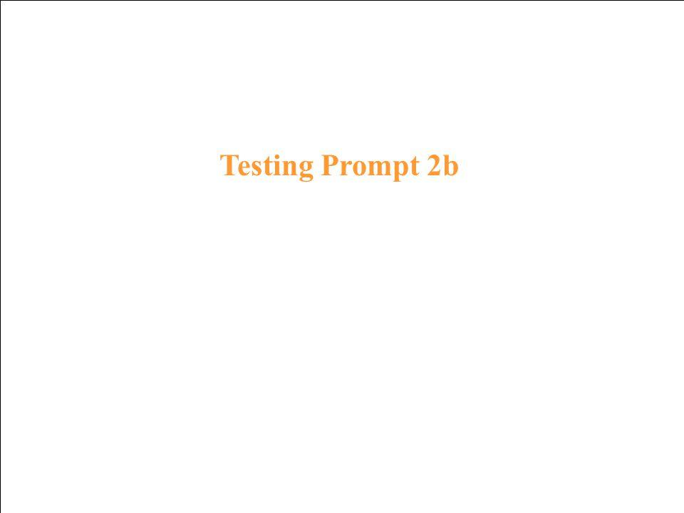 Testing Response 1b