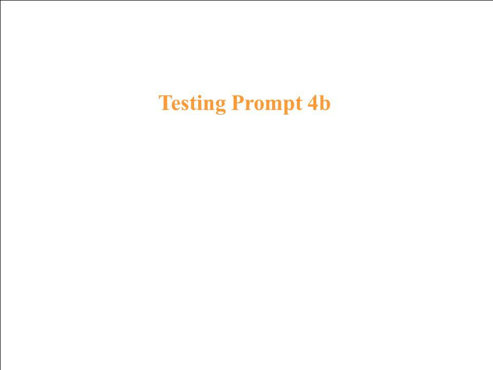 Testing Response 3b