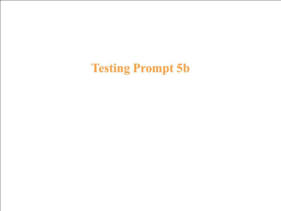 Testing Response 4b