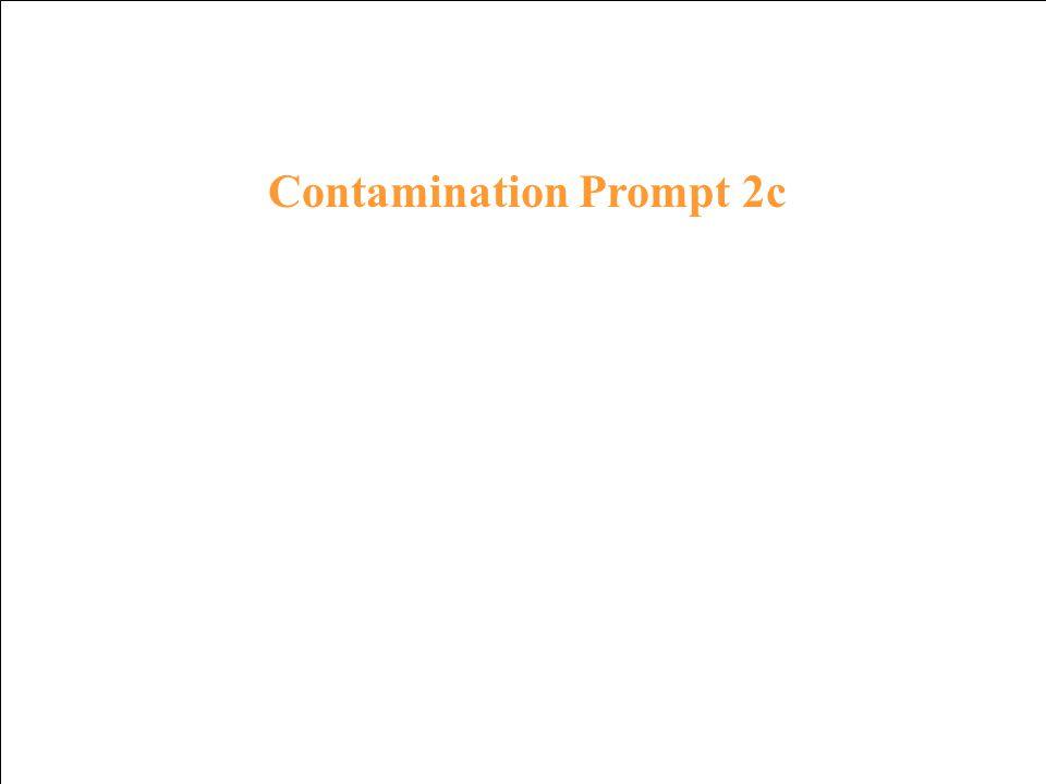 Contamination Response 1c