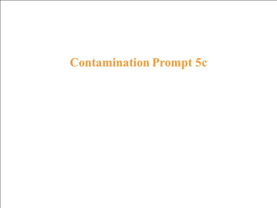 Contamination Response 4c