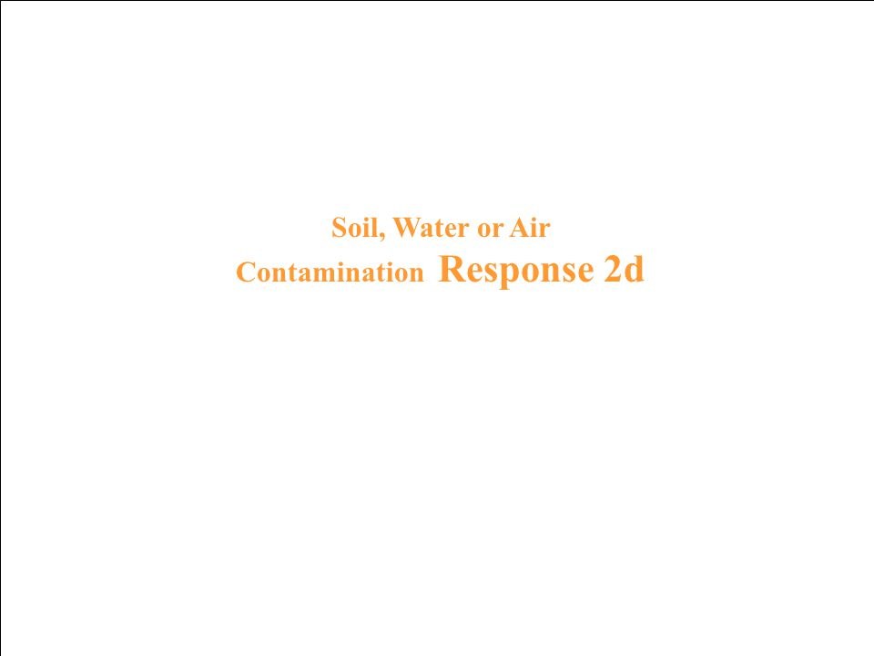 Soil, Water or Air Contamination Prompt 2d