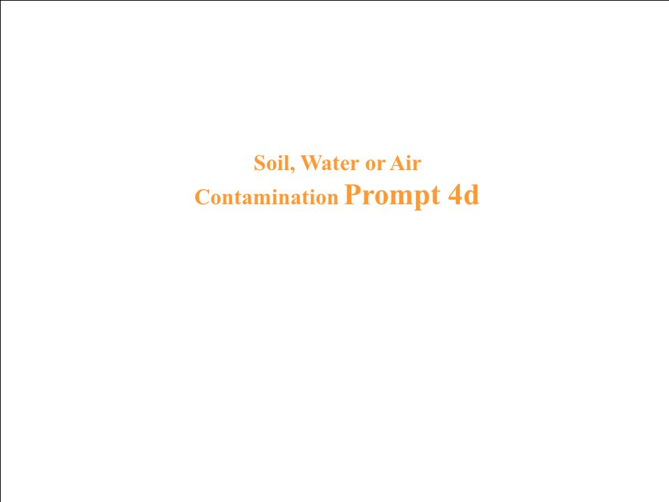 Soil, Water or Air Contamination Response 3d