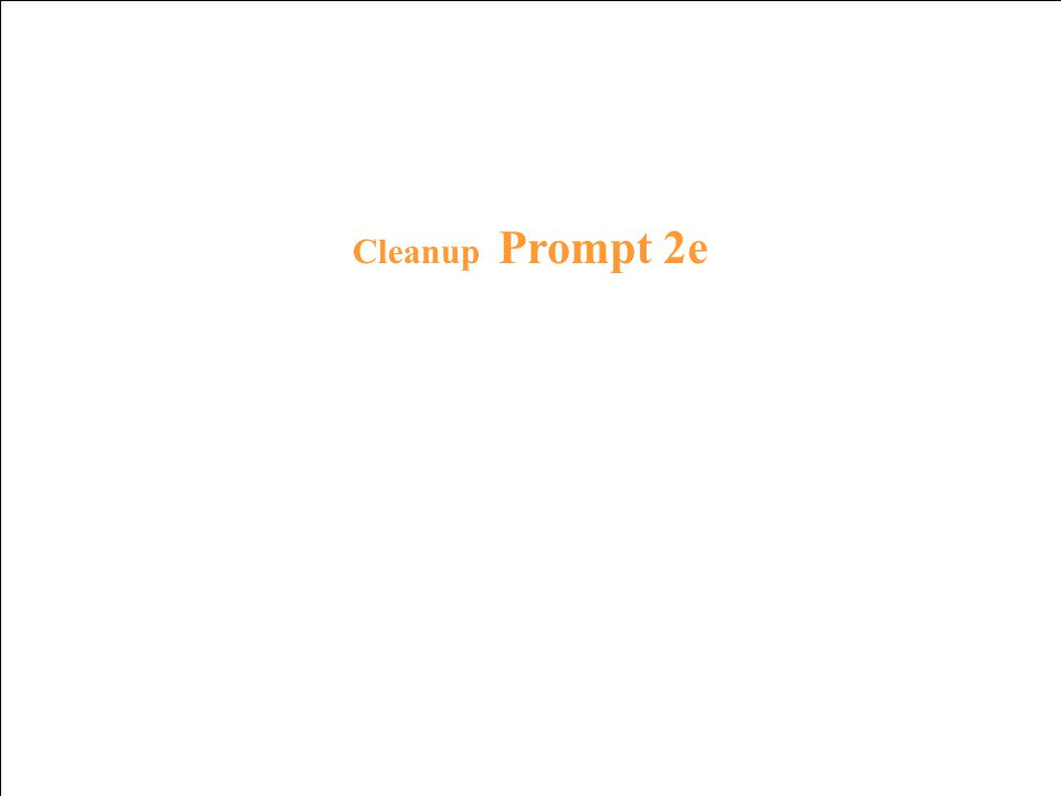 Cleanup Response 1e