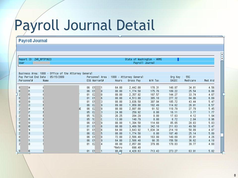 Payroll Journal Detail 8
