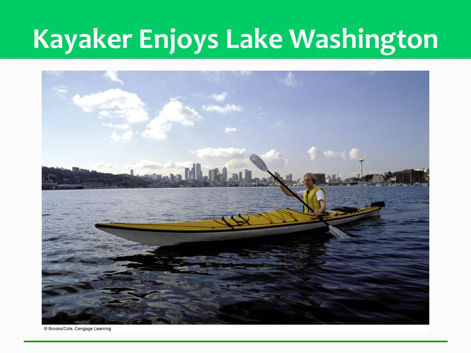 Kayaker Enjoys Lake Washington
