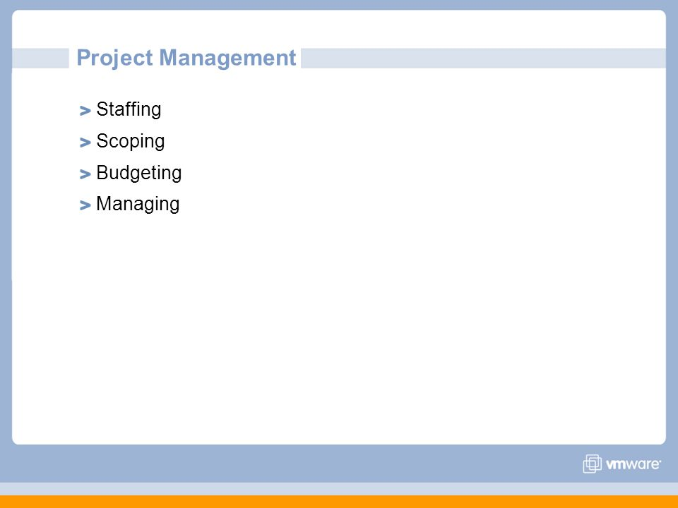 Project Management Staffing Scoping Budgeting Managing