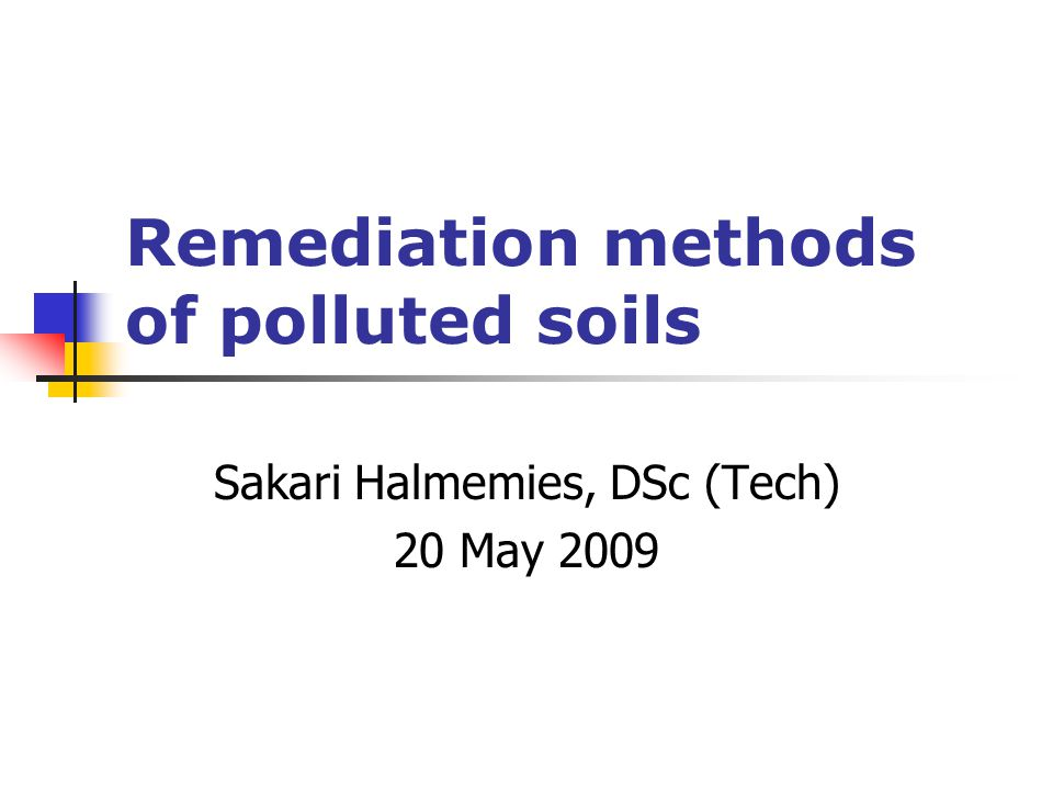 Typical In Situ Soil Vapor Extraction System (FRTR 2001) http://www.frtr.gov/matrix2/section4/D01-4-7.html