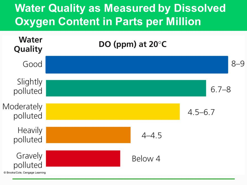Water Quality as Measured by Dissolved Oxygen Content in Parts per Million