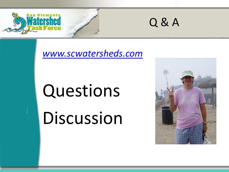 Q & A www.scwatersheds.com Questions Discussion