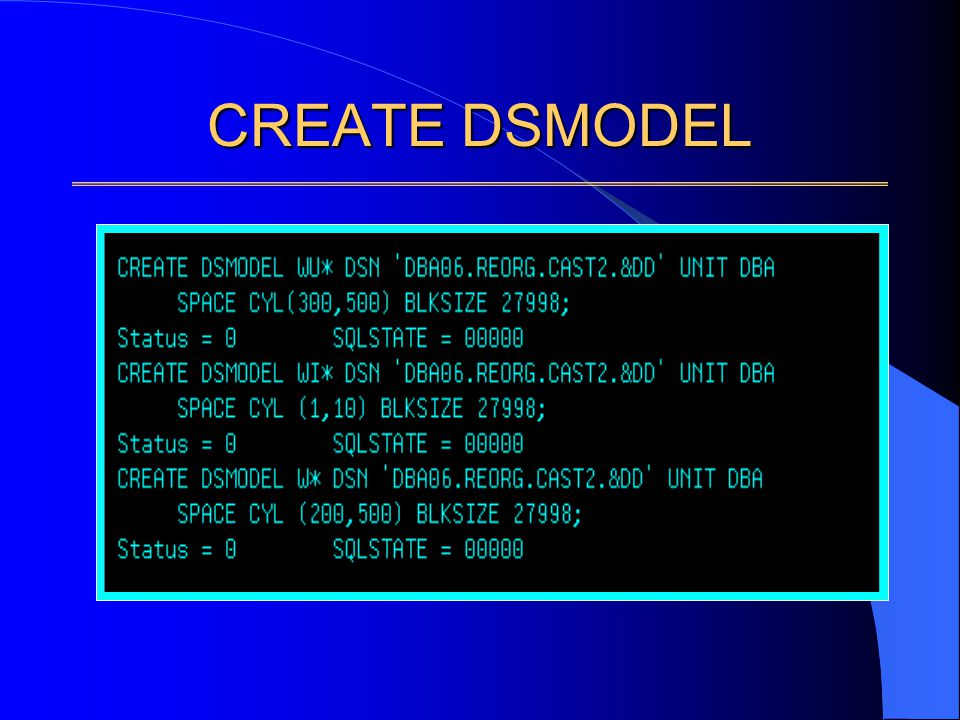 CREATE DSMODEL