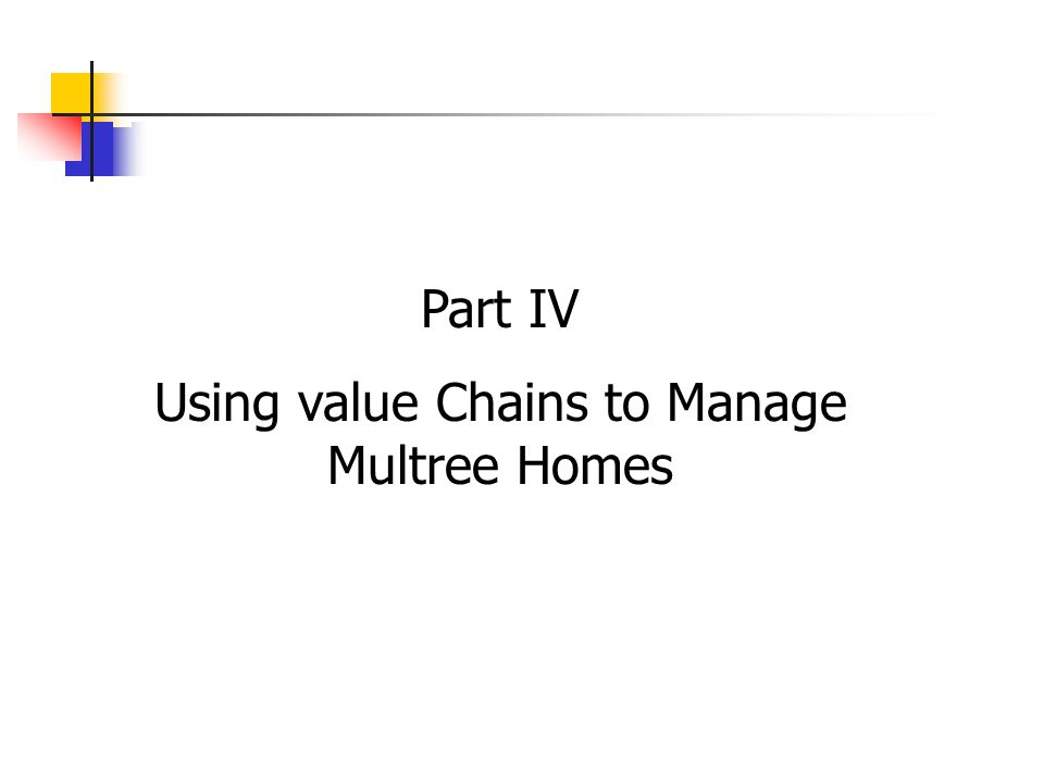 Part IV Using value Chains to Manage Multree Homes