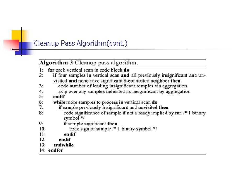 Cleanup Pass Algorithm(cont.)