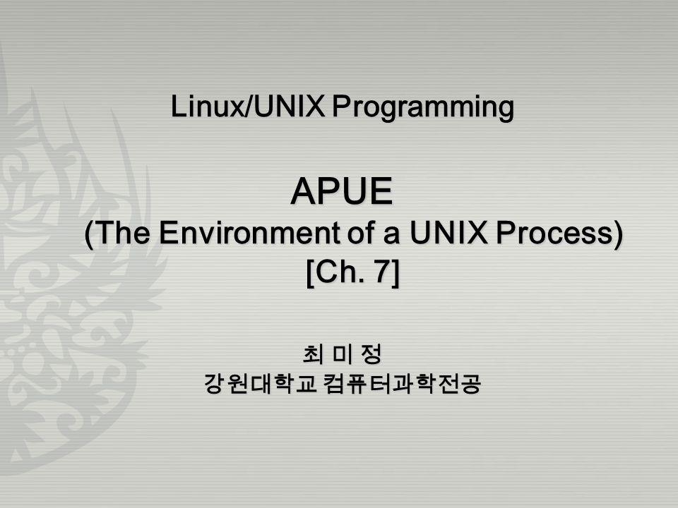 UNIX System Programming Page 12 Command-Line Arguments exec() can pass command-line arguments to a new program.