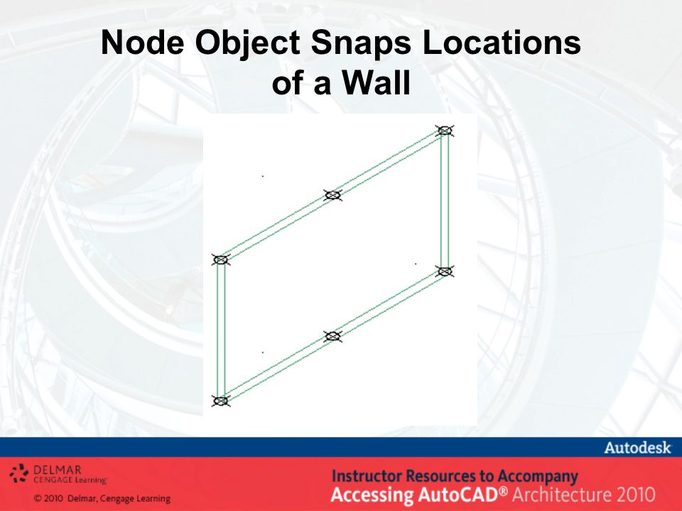 Node Object Snaps Locations of a Wall