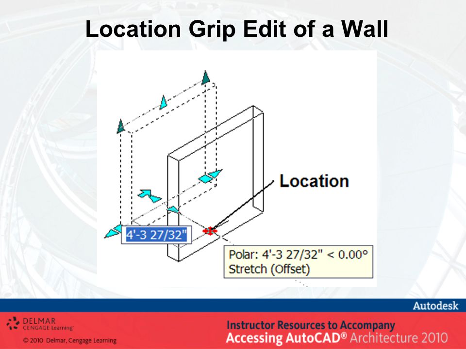 Location Grip Edit of a Wall