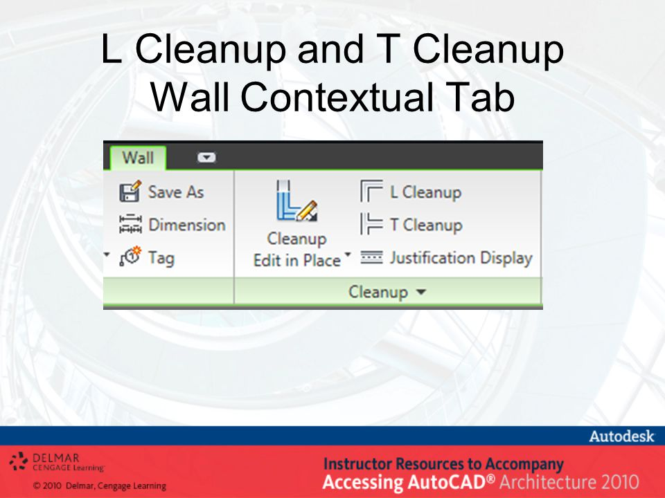 L Cleanup and T Cleanup Wall Contextual Tab