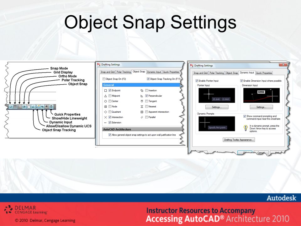 Object Snap Settings
