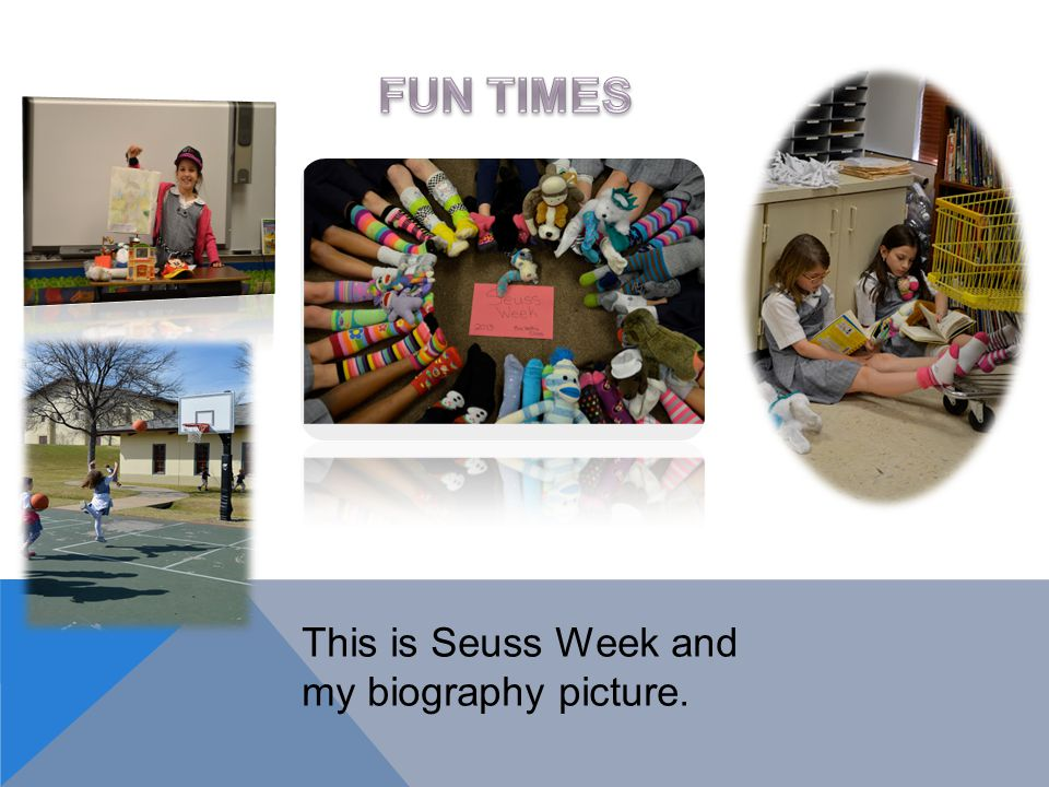 This is Seuss Week and my biography picture.