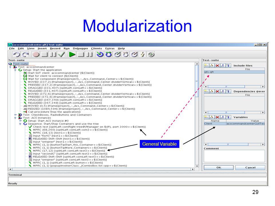 29 Modularization General Variable