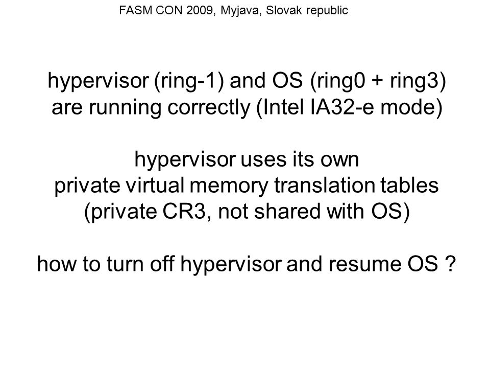 FASM CON 2009, Myjava, Slovak republic ; loading OS paging tables using Global pages ; We are going to change CR3.